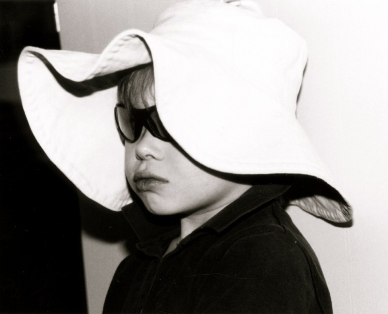 hat and shades kid