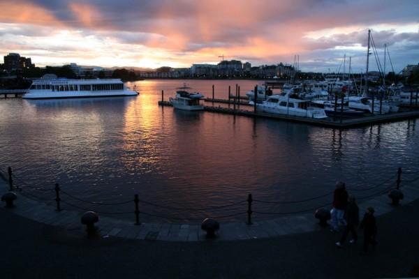 harbour sunset victoria