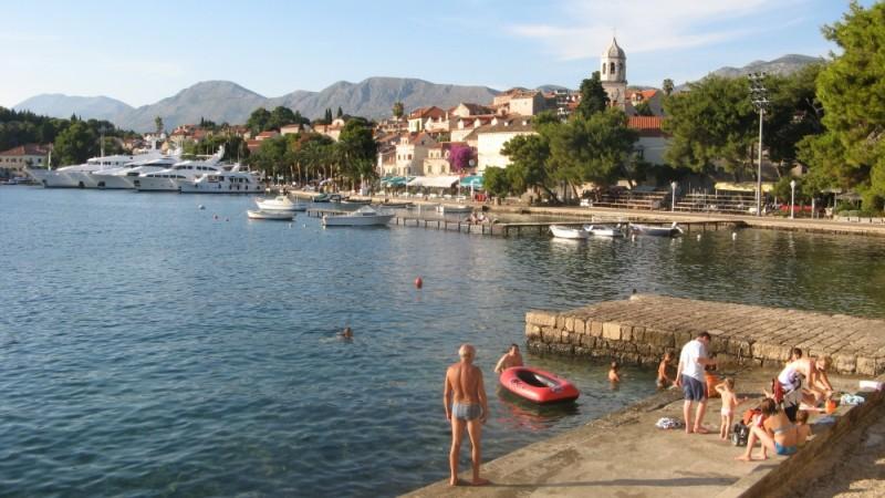croatia bathers in Cavtat