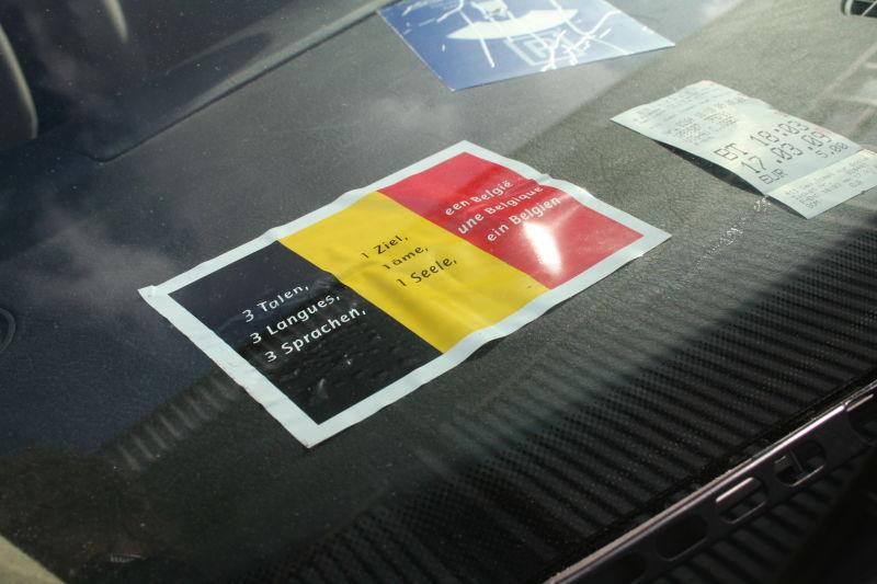 belgian solidarity sign