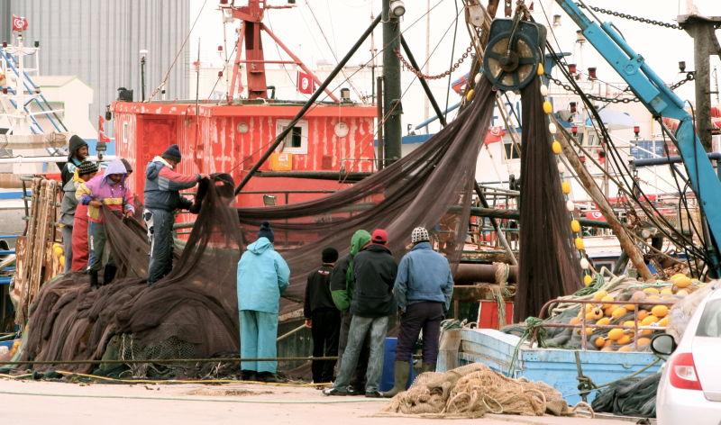 Pêcheurs occupés