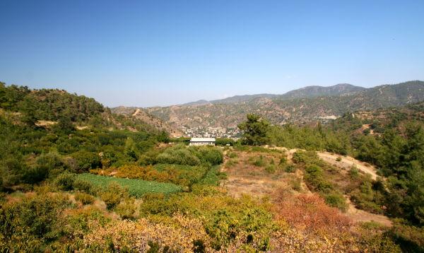 Green hills of Cyprus