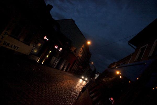 small town poland @ dusk