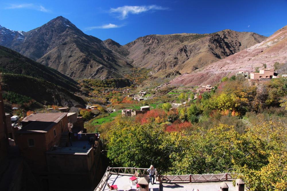 hotel view: View of Tamatert toward Imlil