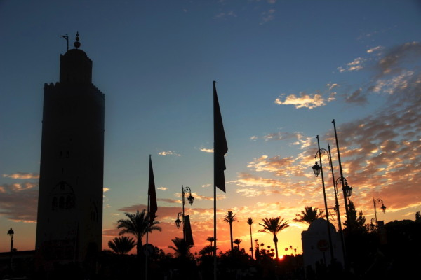 Marrakesh sunset - Koutoubia Mosque