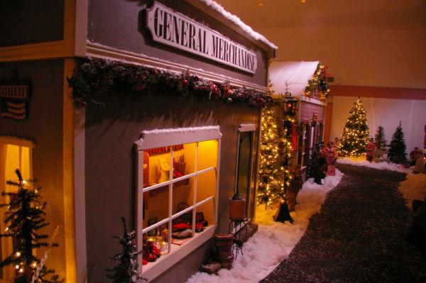 christmas village street