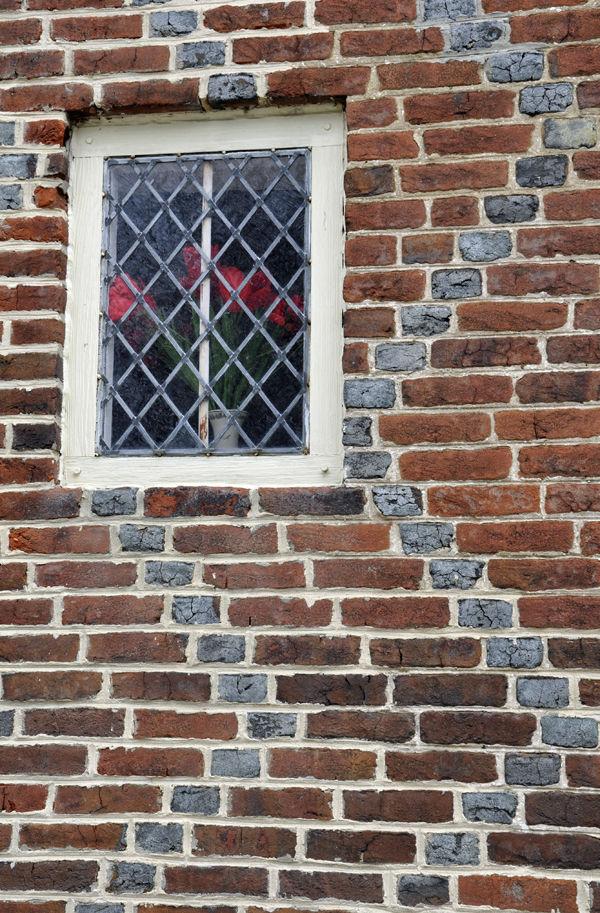 patterned brick: hancock house window