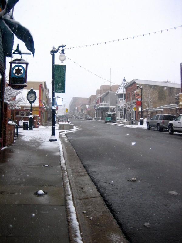 A street shot in Park City, UT.