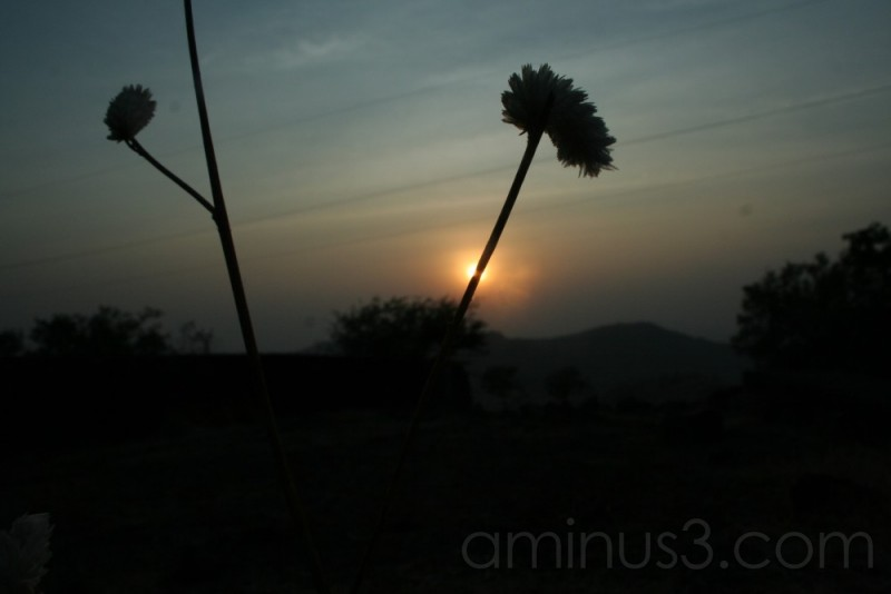 A setting sun (at Khandala,Maharshtra,India)