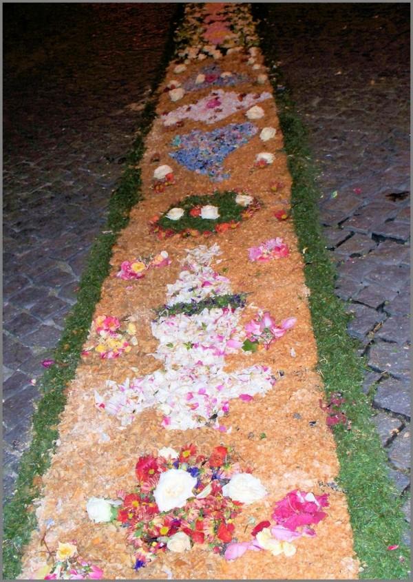 tapete flores fátima