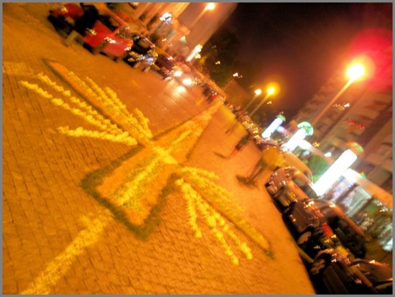 rua flores tapete