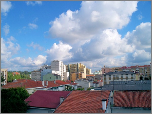 sky roofs clouds
