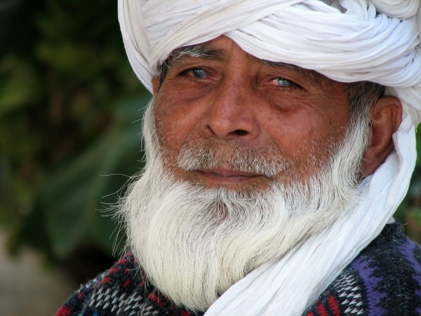 white bearded Pakistani man