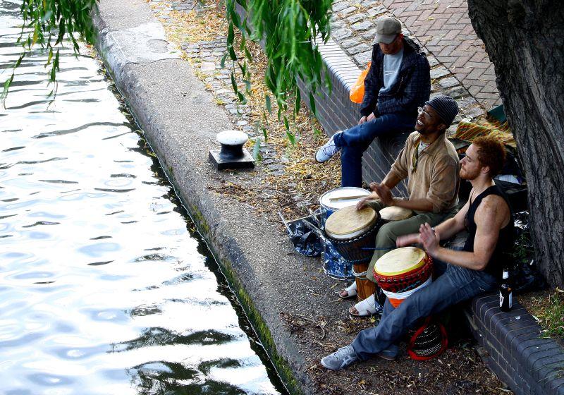 music in Camden town, London