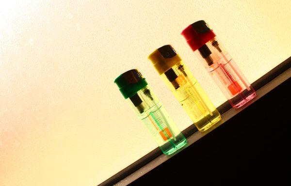 backlit lighters