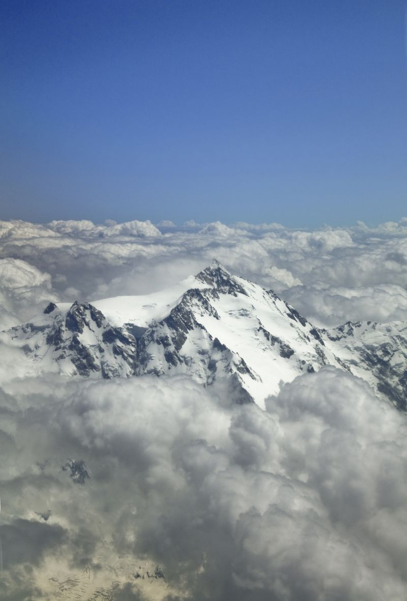 view of Nangaparbat peak from the plane