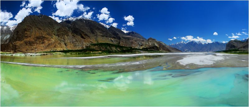 river near shigar valley