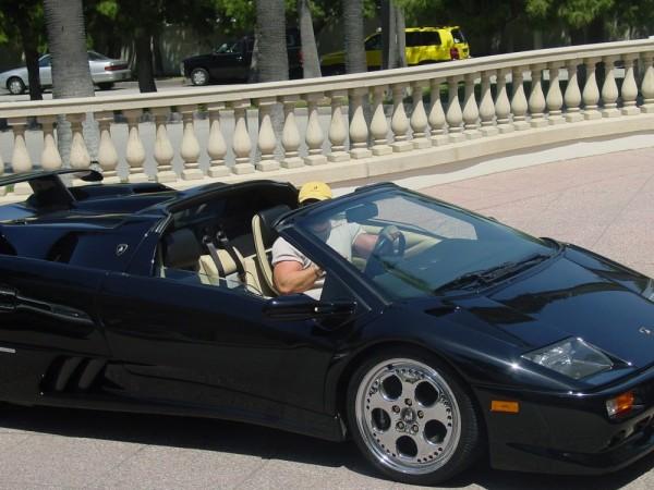 Black Lambo in Huntington Beach, California