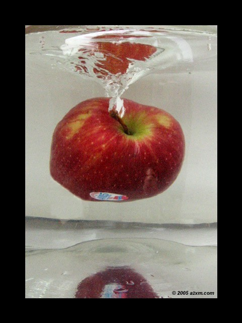 apple in the water