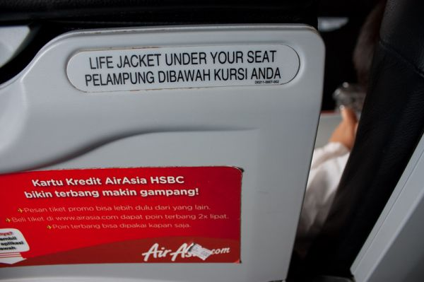 life jacket under your seat