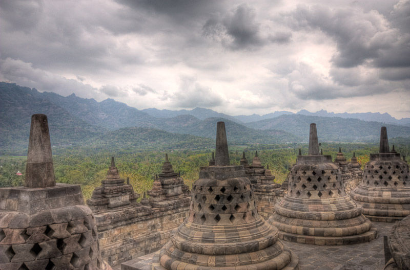 the stupas of borobudur temple