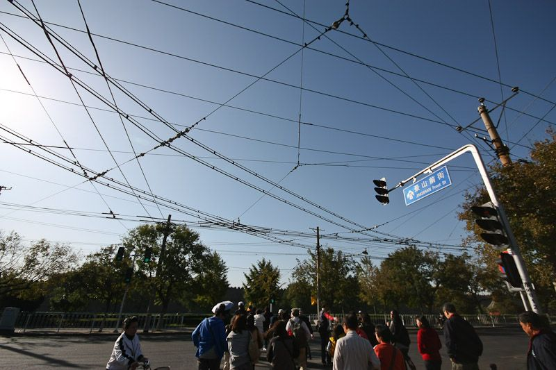 electric bus's power lines
