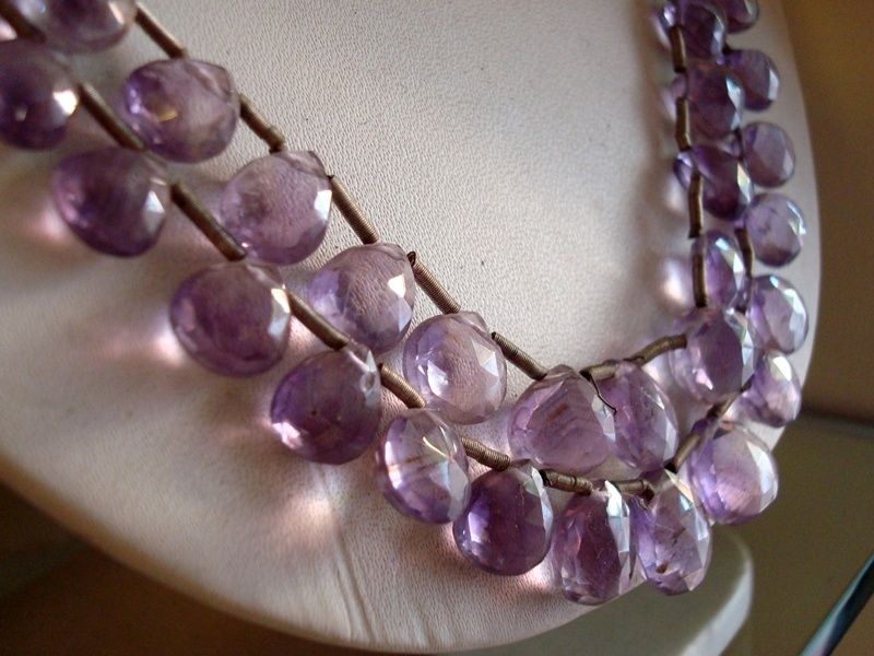 Necklace With Violet Beads