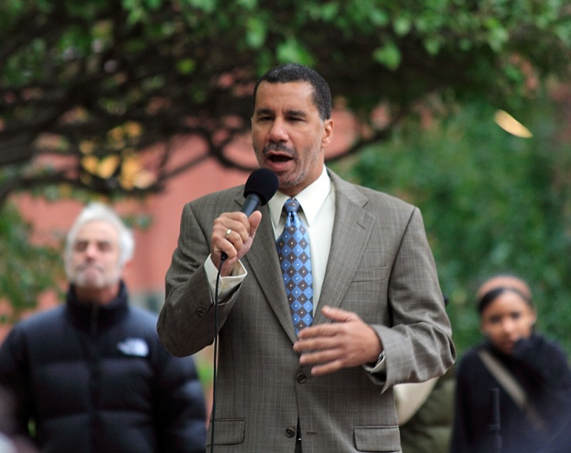 David Paterson at the Step It Up rally