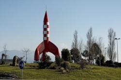 Tintin fusée Chabeuil Drome 26