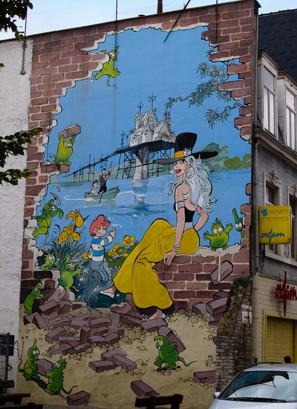 Bruxelles BD Belgique mur