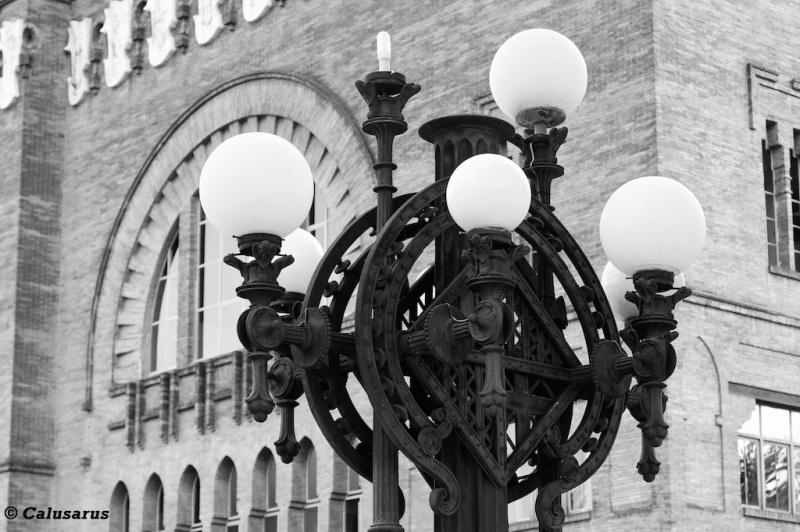 lampadaire N&B Barcelone