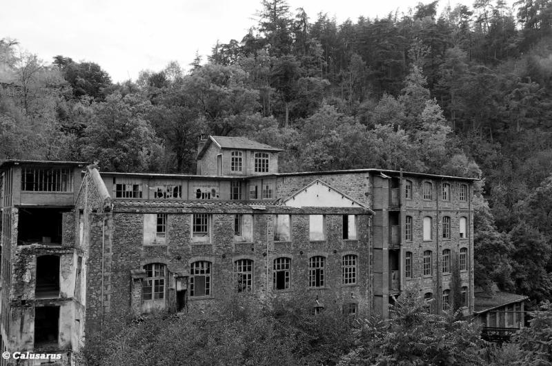 Ruine ardeche Annonay N&B