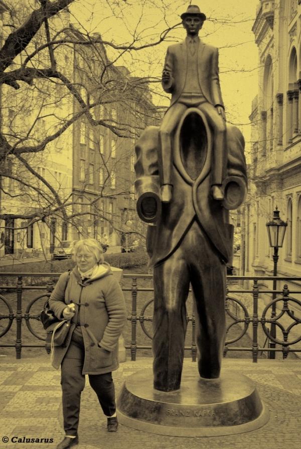 Kafka statue Prague