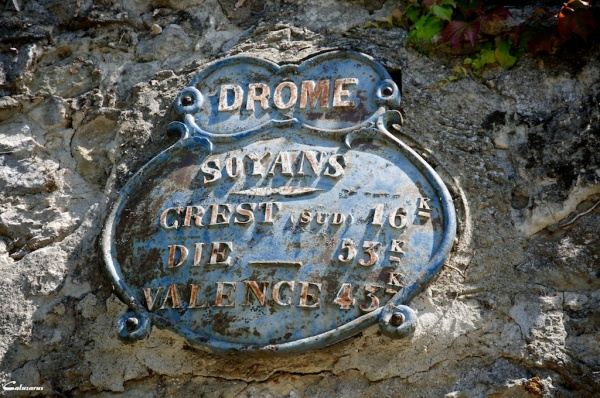 Drome 26 Soyans pancarte