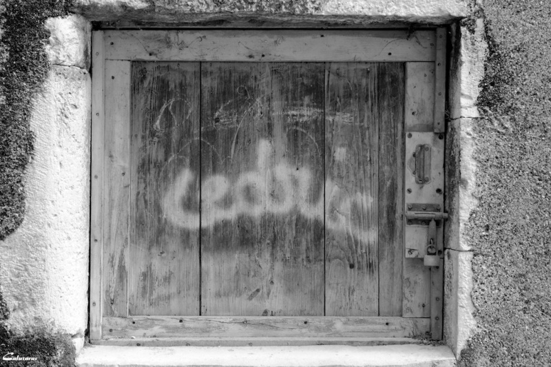 Ardeche graffiti N&B