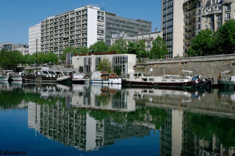 paysage ville paris reflet riviere