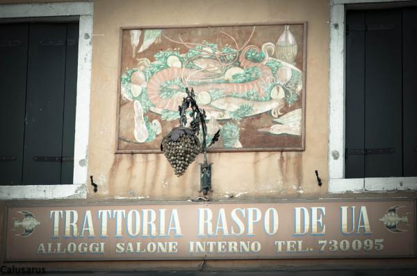 Italie Burano enseigne