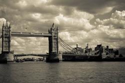 Londres Bridge sepia