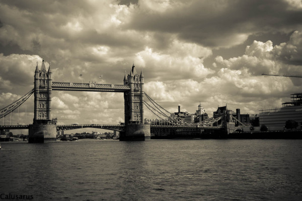 Londres Bridge sepia