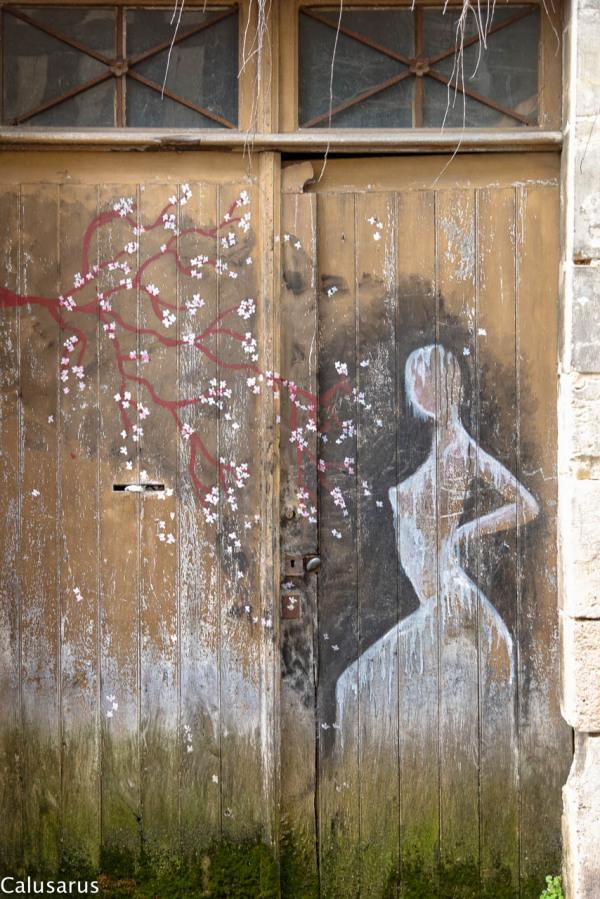 Chateaudun graffiti fleur