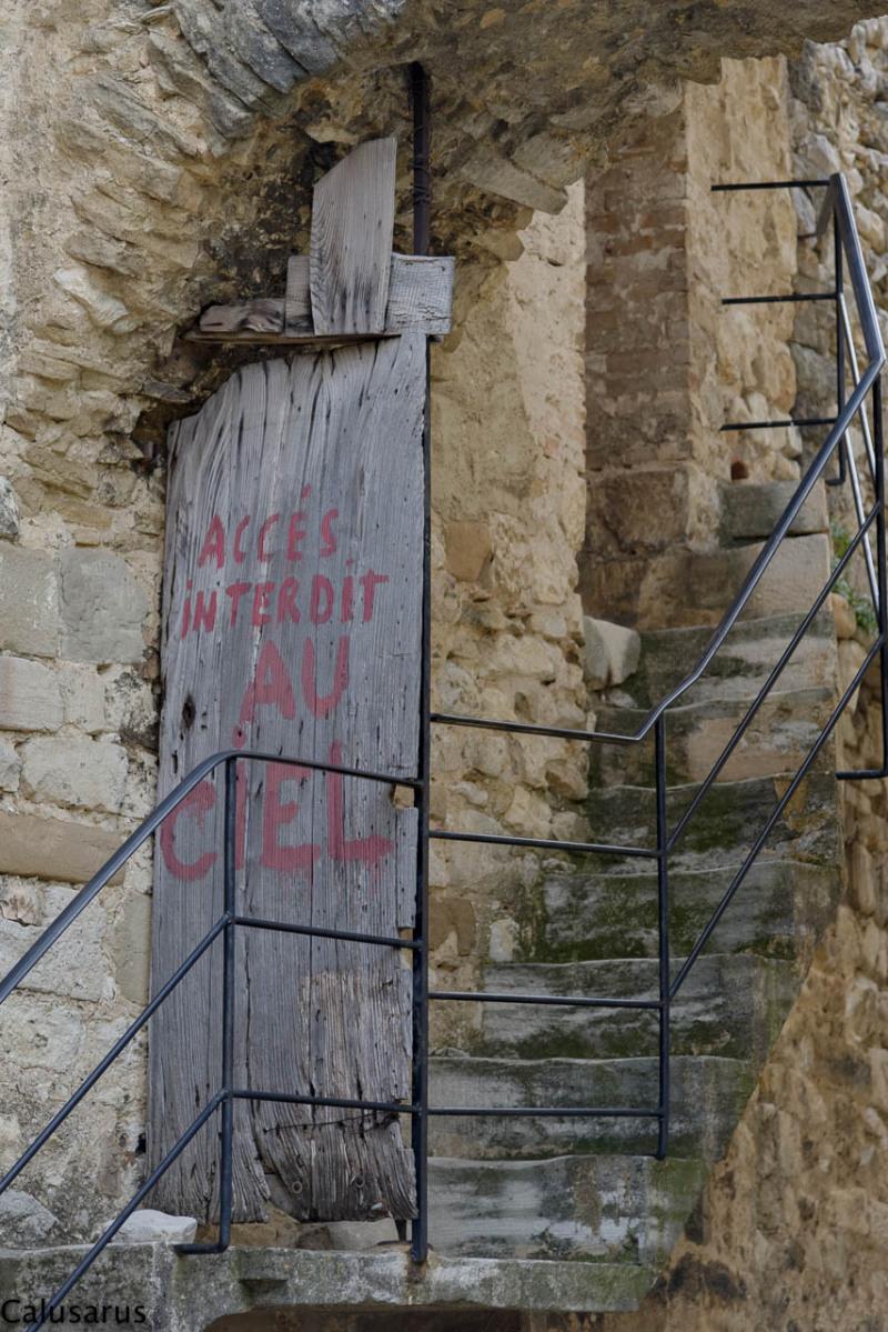 Porte escalier Drome