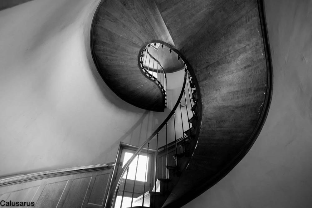 Escalier N&B Azay-le-rideau