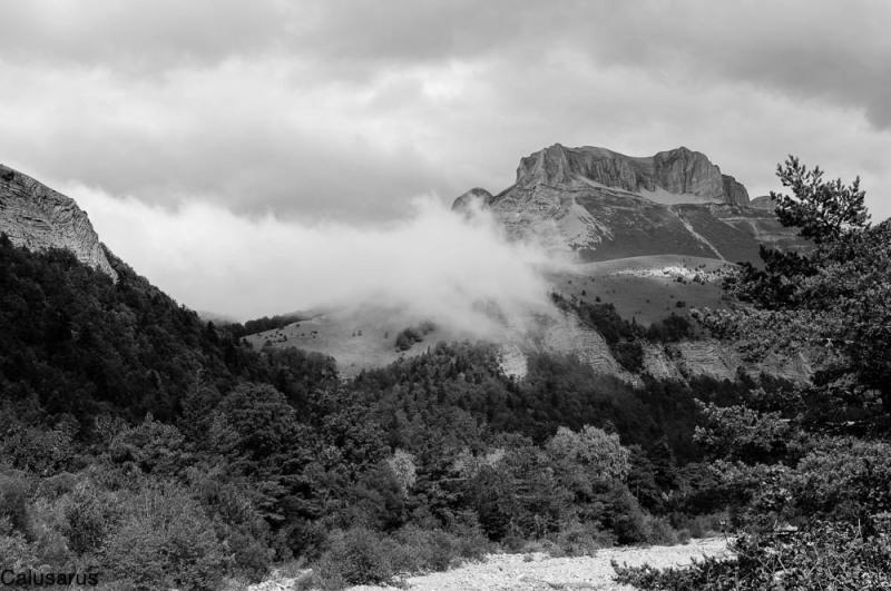 Paysage Drome 26 N&B Montagne