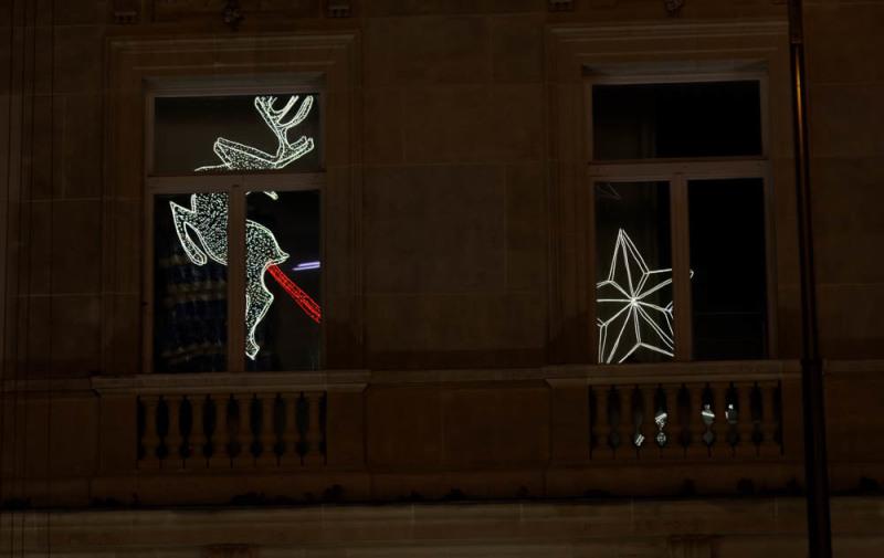 Noel nuit reflet  Paris