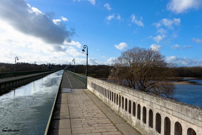 Paysage pont rivière Briare