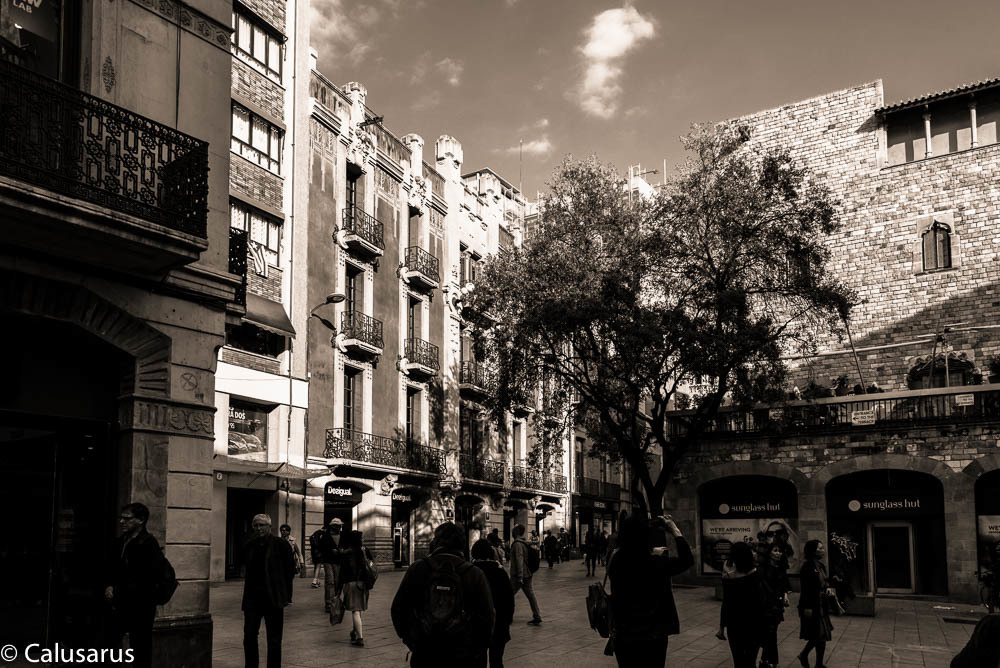 Paysage ville silhouette N&B Barcelone