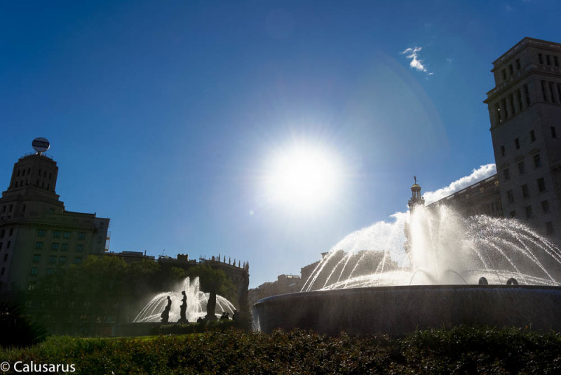 Contre-jour Fontaine Espagne