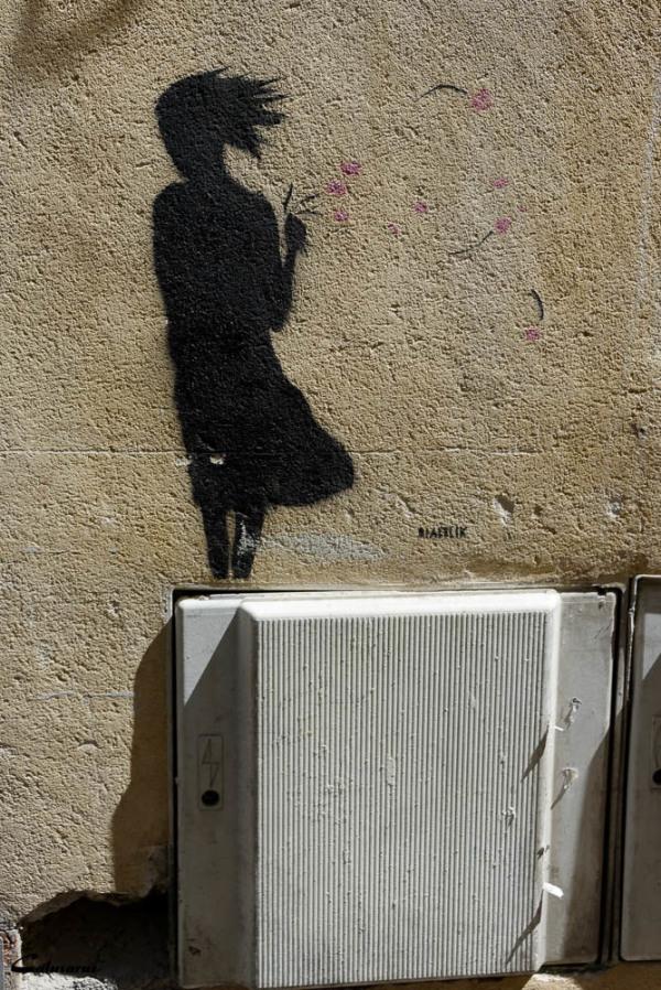 Graffiti Arles Silhouette