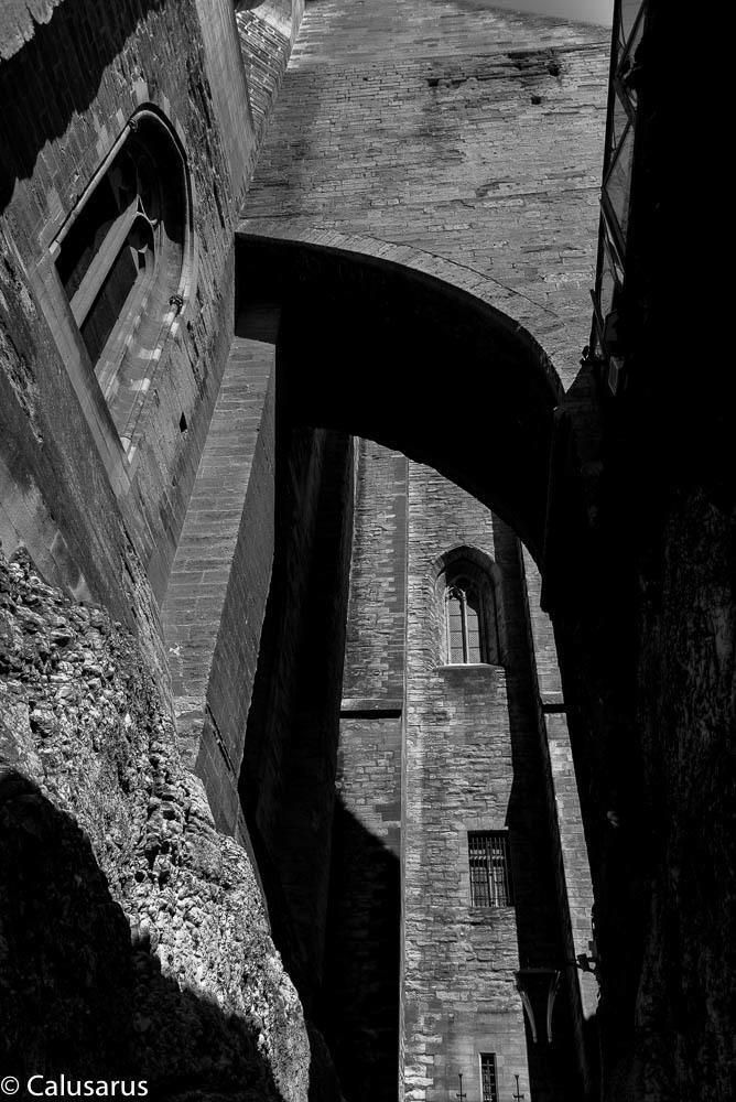 Avignon N&B Architecture