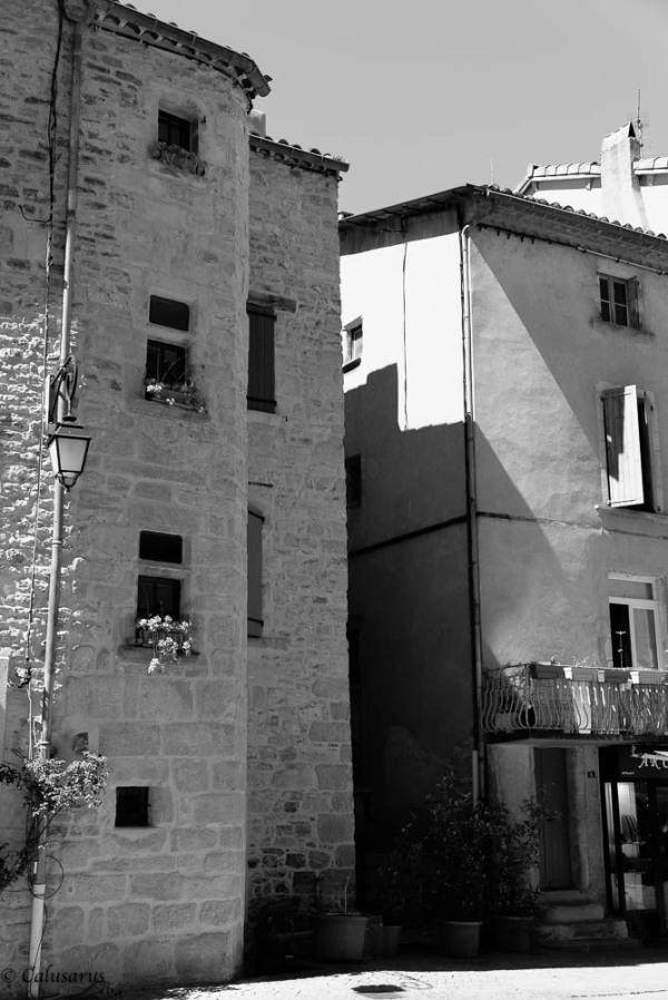 Paysage Ardèche N&B Ville